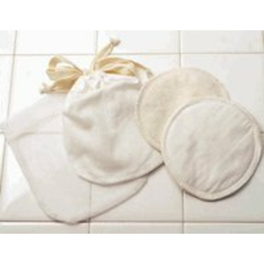 Breastfeeding Pads made of Certified Organic Cotton - Off White