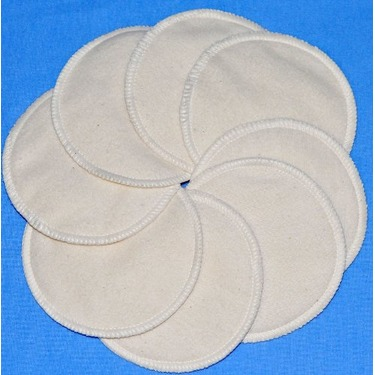 NuAngel Washable Nursing Pads 100% Cotton - Natural - Made in U.S.A.