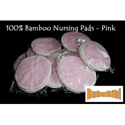 100% Bamboo Nursing or Breast Pads Organic - Pink