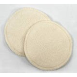 Bamboobies Organic Bamboo Fleece Overnight Washable Nursing Pads, 4 Pair Pack