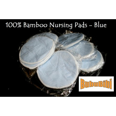 100% Bamboo Nursing or Breast Pads Organic - Blue