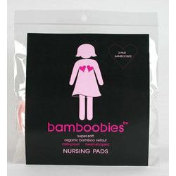 Bamboobies Organic Bamboo Velour Waterproof Washable Nursing Pads, 2 Pair Pack - Hot Pink