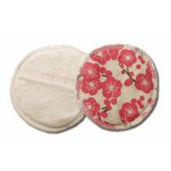 Breastfeeding Pads made of Certified Organic Cotton - Plum