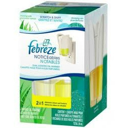 Febreze NOTICEables Dual Scented Pluggable Air Freshener in Morning Walk & Cleansing Rain