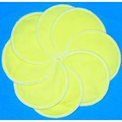 NuAngel Designer Washable Nursing Pads 100% Cotton - Sunshine Yellow - Made in U.S.A.