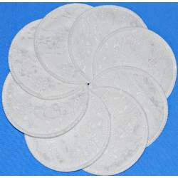 NuAngel Washable Nursing Pads 100% Cotton - White Lace - Made in U.S.A.