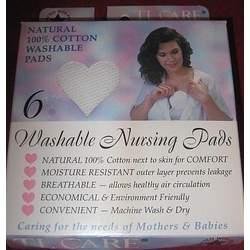 TL Care 100% Cotton Washable Nursing Pads-6pk [Baby Product]