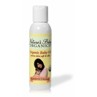 Nature's Baby Organics Organic Baby Oil, Mandarin Coconut,  4-Ounce Bottles (Pack of 2)