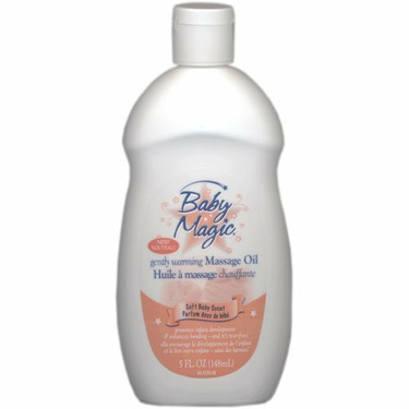 Baby Magic Gently Warming Massage Oil, Soft Baby Scent, 5 Oz.