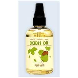 Little Twig Organic Baby Oil with Lavender, Lemon & Tea Tree, 4 Oz. - Made in USA