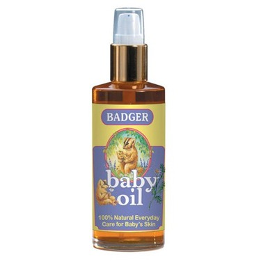 Badger Baby Oil with Organic Chamomile & Calendula 4 fl oz (118 ml)