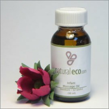 NaturalEco Organics Infant Massage Oil Soothes and Calms your New Baby