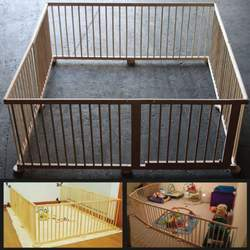 Wooden Playpen 8 Panel Baby Room Divider Octagon