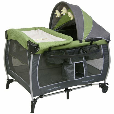 Baby Trend Columbia Play Yard - Green/ Gray