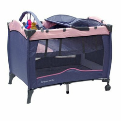 Dream on Me Fullsize Play Yard with Baby Changing Table - Pink - DOM023