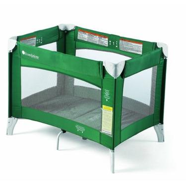 Foundations Ultra Portable Play Yard Crib, Green