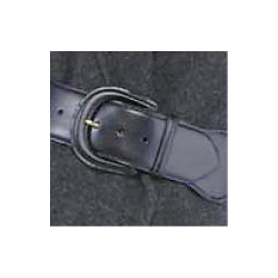 Jacob Wide Black Leather Belt