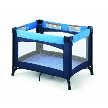 Foundations Celebrity Portable Play Yard Crib, Blue