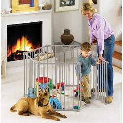 North States 3 in 1 Metal Superyard / Extra Wide Gate