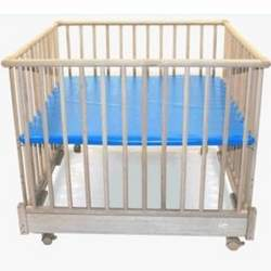 Kettler 4 Sided Foldable Wooden Playpen with Blue Deck