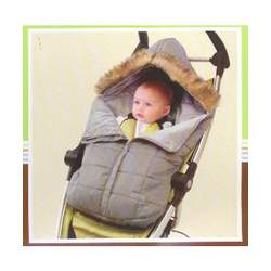 "Carter's ""Permission to Parka"" Stroller Bunting (Sizes 0M - 12M) - gray, 0-12mos."