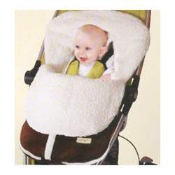 "Carter's ""Surely Sherpa"" Stroller Bunting (Sizes 0M - 12M) - white, 0-12mos."