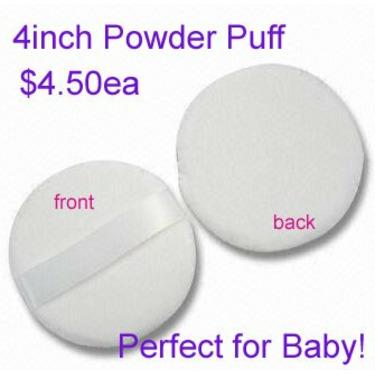 """Baby Powder Puff - 4"""" Boa Soft Powder Puff"""