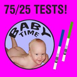 75 Ovulation tests, 25 Pregnancy tests and Ovulation Chart!