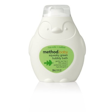 Method Baby Bubble Bath Rice Milk & Mallow, 10-ounce Bottles (Pack of 6)