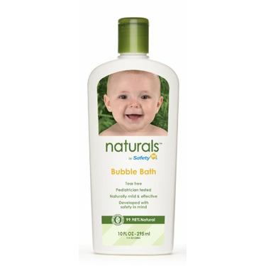 Safety 1st Naturals Bubble Bath, 10-Fluid Ounce Bottles (Pack of 3)