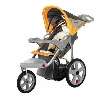 InStep Grand Safari Swivel Wheel Jogger, Gray/Yellow