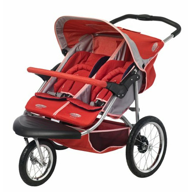 InStep Safari Swivel Double Jogging Stroller (Rose/Khaki)