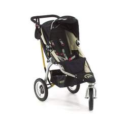 "BOB Revolution 12"" Aluminum Wheel Stroller in Black"