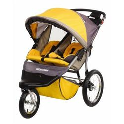 Schwinn Free Wheeler ST Double Jogging Stroller (Yellow/Grey)