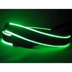 Light Me Up Leash (Black/Green)