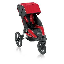 Baby Jogger Summit 360 Single Jogging Stroller, Red Black