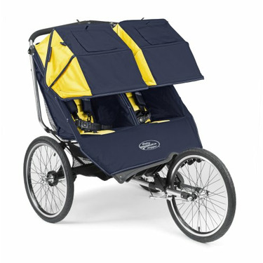 """Baby Jogger 2008 Performance 20"""" Double Stroller - Navy/Yellow"""