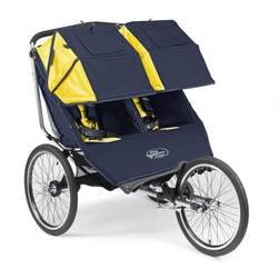 "Baby Jogger 2008 Performance 20"" Double Stroller - Navy/Yellow"