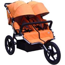 Tike Tech Double All Terrain X3 Sport Stroller, Autumn Orange
