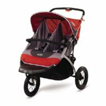 InStep Suburban Safari Double Jogging Stroller (red/grey)