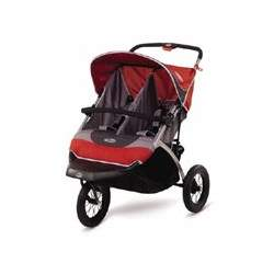 InStep Suburban Safari Double Jogging Stroller (red/grey)
