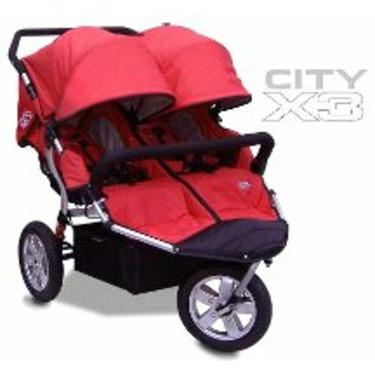 Tike Tech CityX3 ALPINE RED Double Twin Child Stroller