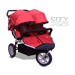 Tike Tech CityX3 ALPINE RED Double Twin Child Stroller