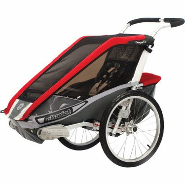Chariot Carriers Inc Cougar 1 Stroller Red/Silver/Gray, One Size