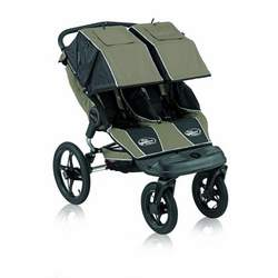 Baby Jogger Summit 360 Double Jogging Stroller, Sage & Black