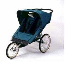 KoolStop KoolStride Lil Deuce Paramount Double Jogging Stroller, Blue