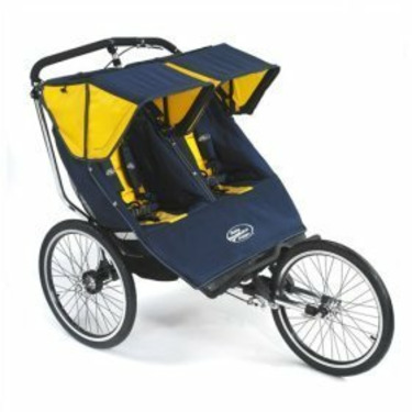 Baby Jogger 68728 Performance Series Double Jogging Stroller in Navy / Yellow
