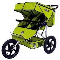 Tike Tech ATX Double Jogger Stroller- Lime Green