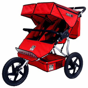 Tike Tech ATX Double Jogger Stroller- Nordic Red
