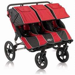 Baby Jogger Summit 360 Triple Jogging Stroller, Red Black